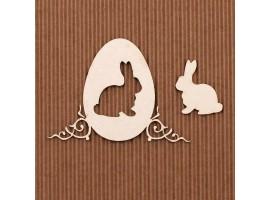Pisanka Wielkanocna z króliczkiem