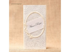Zaproszenie ślubne z ramką